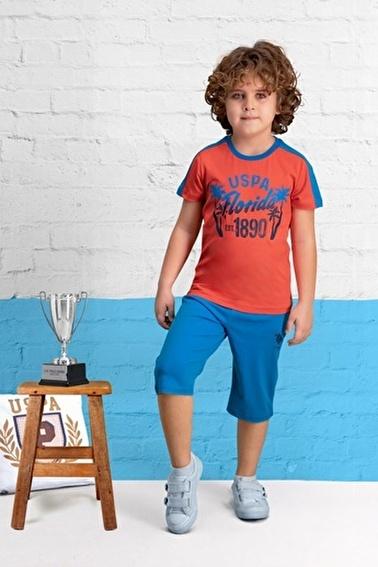 U.S. Polo Assn. U.S. Polo Assn Lisanslı Nar Erkek Çocuk Kapri Takım Kırmızı